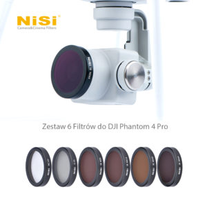 Nisi Zestaw 6 Filtrów do DJI Phantom 4 Pro / DJI Phantom 4 Advanced